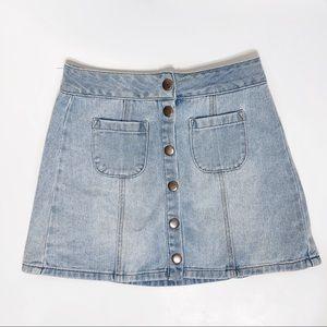 Brandy Melville | vintage Jean button skirt